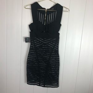 Nasty Gal XS Black Body Con Cut Out Dress